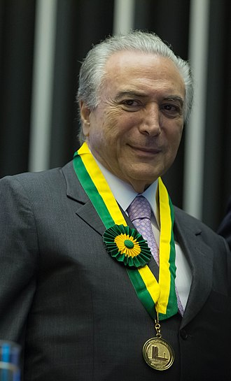 Michel Temer - Michel Temer with the legislative merit medal, which proves his influence in the legislative power.