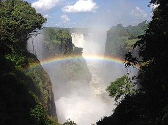Victoria Falls, Zimbabwe - Image: Victoria Falls Waterfall West