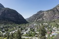 View from high above Ouray, Colorado, an old mining community high in the San Juan Mountains of southwestern Colorado LCCN2015632310.tif