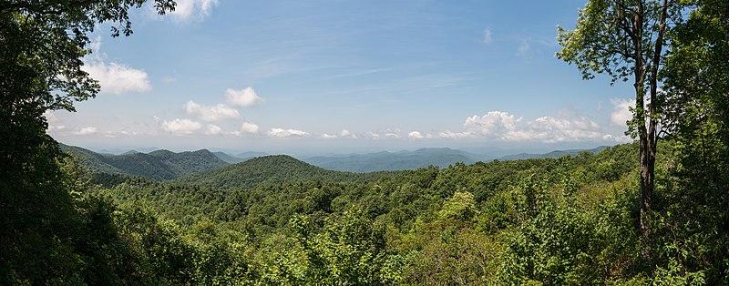 File:View of Blue Ridge Mountains from Sassafras Mountain, Pickens County SC 20160701 1.jpg