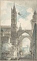 View of the Portal and Principal Entrance of the Cathedral of Palermo during the Festival of Sta. Rosalia MET DP805935.jpg