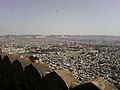 View of the heritage city Jaipur from Nahargarh fort walls.jpg