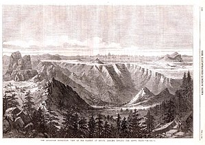Senafe - Image: View of the plateau at Senafe, looking towards the Adowa peaks (1868)