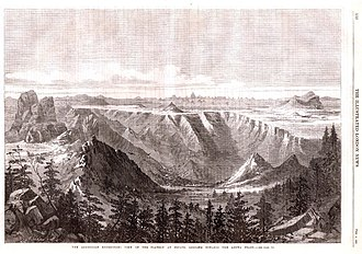 Senafe - Image: View of the plateau at Senafe, looking towards the Adowa peaks (1868)