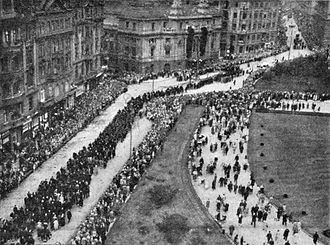 Funeral procession - The funeral procession of Viktor Dyk, 1931, Prague, Czech Republic