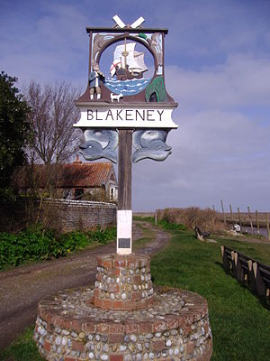 Blakeney, Norfolk - Image: Village Sign, Blackeney, 24th March 2009