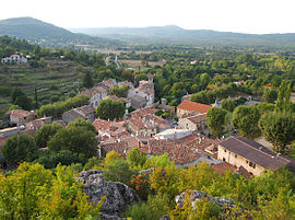 A view of the village from the castle