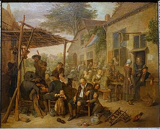 Richard Brakenburgh - Image: Village fair, Richard Brakenburgh, 1650 1700, oil on canvas Villa Vauban Luxembourg City DSC06646