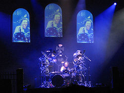 Vinnie Appice performing a drum solo with Heaven and Hell at Katowice, 2007