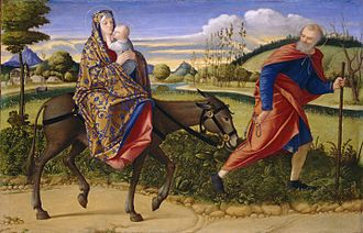 Vittore Carpaccio - The Flight into Egypt (1500)