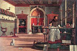 Vittore Carpaccio: St. Augustine in His Study