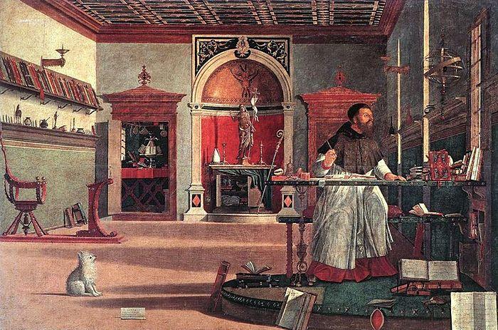 Vittore carpaccio, visione di sant'agostino 01