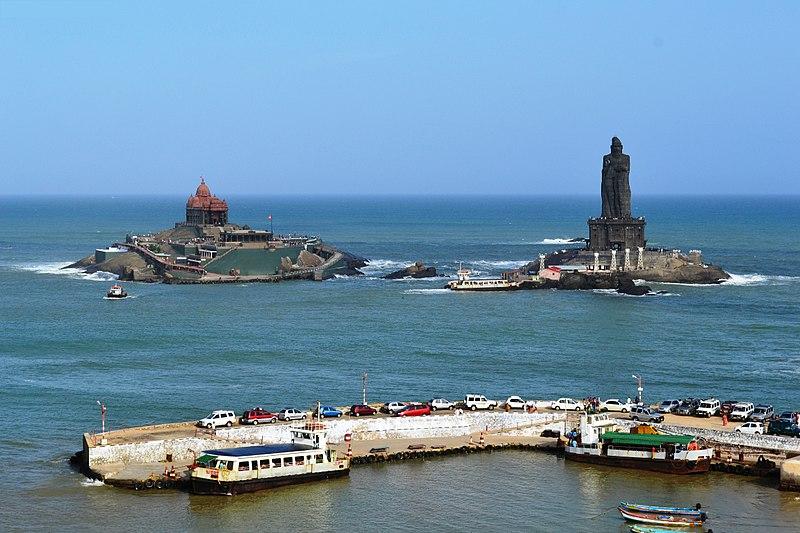 http://commons.wikimedia.org/wiki/File:Vivekananda_Rock_Memorial,_Kanyakumari.jpg