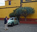 Volkswagen Beetle near Fort of São Tiago in Funchal. Madeira, Portugal.jpg