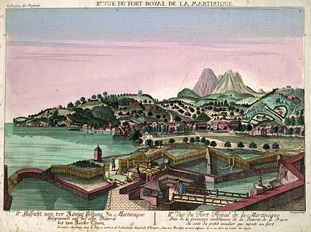 Fort-Royal vers 1750 - Fort-de-France