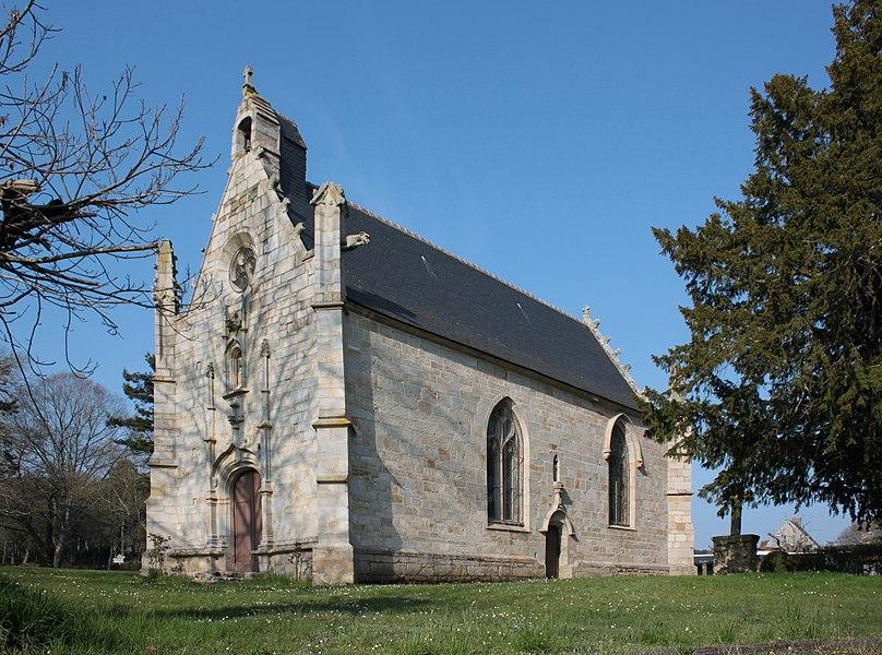 Chapelle Sainte-Anne (XVI° siècle), vue sud-est, Fr-56-Saint-Dolay.