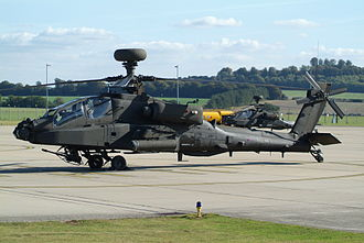 AAC Middle Wallop - An Army Air Corps Westland Apache AH1 at Middle Wallop.