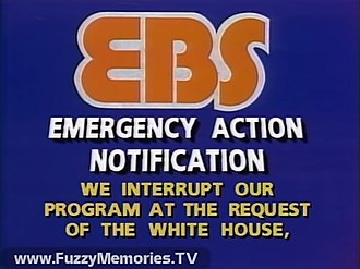 Emergency Broadcast System - Video slide from a prerecorded announcement of the beginning of an EAN from WGN-TV, Chicago, in 1985, during the period of the Emergency Broadcast System. This EAN announcement was never seen on the airwaves of WGN-TV itself, but was posted to YouTube in March 2017.