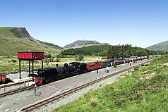 Welsh Highland Railway in Rhyd Ddu