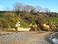 WW2 pillbox at the eastern end of Porth Sawsen beach - geograph.org.uk - 1585187.jpg
