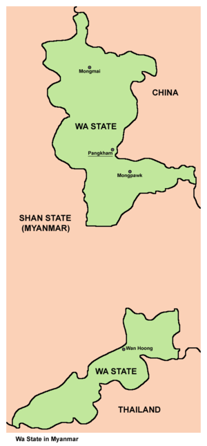 Wa State - Map of the Wa State
