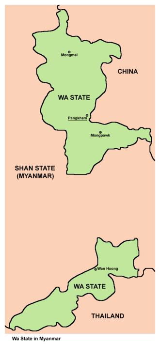 Wa State - Map of the Wa State