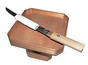 A tantō knife prepared for seppuku