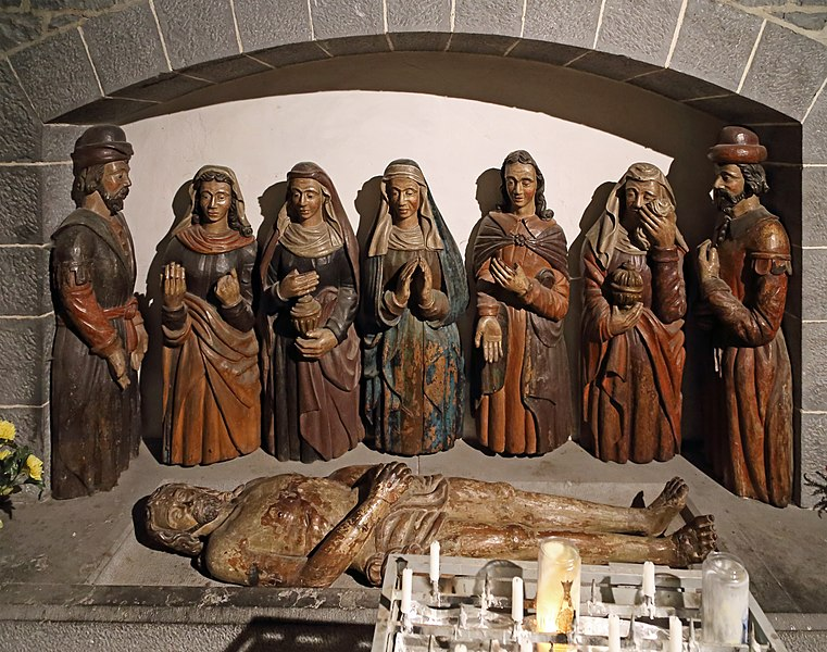 Walcourt (Belgium): St Materne church, interior - detail