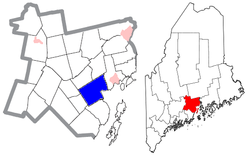 Location of Belfast in Maine