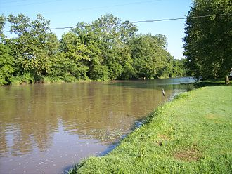 Warsaw, Ohio - The Walhonding River in Warsaw