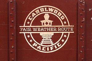 Carolwood Pacific Railroad - Image: Walt Disney's Carolwood Barn CPRR Logo