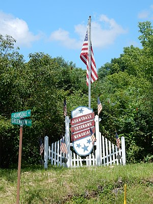 North Manheim Township, Schuylkill County, Pennsylvania - Image: War Memorial, Adamsdale PA 03