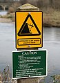 Warning signs on Nun's Walk, Coldstream - geograph.org.uk - 1206513.jpg