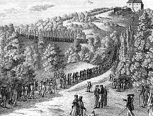 Karl Ludwig Sand - Students marching towards the Wartburg, of which Sand was one.