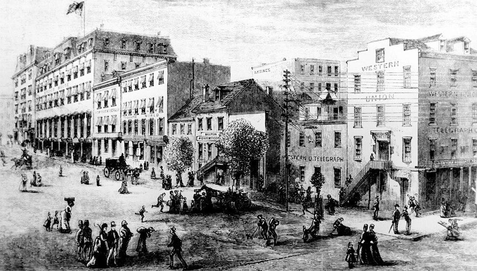 Washington DC Newspaper Row, 1874