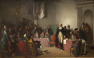 George Washington's resignation as commander-in-chief - Image: Washington Resigning His Commission 1859