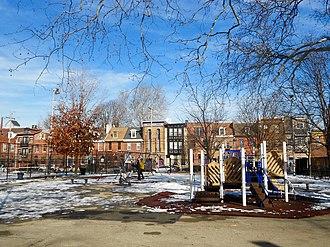 Bethel Burial Ground - Image: Weccacoe Playground looking north