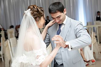 Wedding reception - Wedding dance of an Azerbaijani married couple