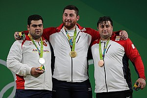 Weightlifting at the 2016 Summer Olympics – Men's +105 kg - Image: Weightlifting at the 2016 Summer Olympics Men's +105 kg 0
