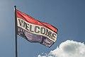 Welcome Flag in Two Harbors Minnesota (25028905106).jpg