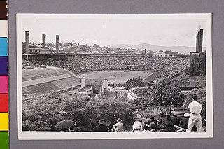 Vista parcial do Estádio Municipal Paulo Machado de Carvalho (Pacaembú). São Paulo/Sp