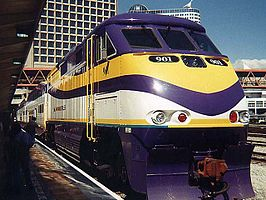 West Coast Express Train №. 901 at Waterfront Station Vancouver BC Canada.jpg