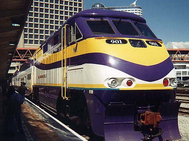 West Coast Express Train %E2%84%96. 901 at Waterfront Station Vancouver BC Canada