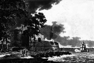 Cowes Castle - An engraving of the castle in 1796