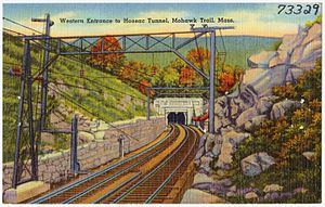 John Albion Andrew - 1930s postcard view of the Hoosac Tunnel