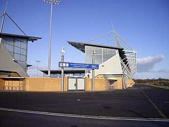 Colchester Community Stadium - Colchester Community Stadium southeast corner in December 2009