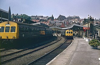 Whitby railway station - Image: Whitby Town copy