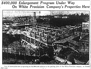 Westside Provisions - White Provision expansion plans, 1922
