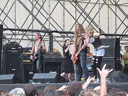 White Skull performing a show at Milan in 2008.