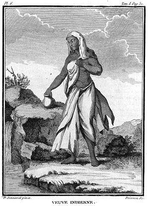 Hindu Widows' Remarriage Act, 1856 - Image: Widow India 1774 1781